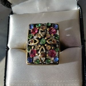 Lucky Brand Ring with mulit color stones